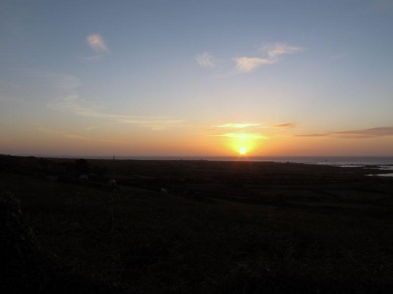 coucher de soleil sur goury