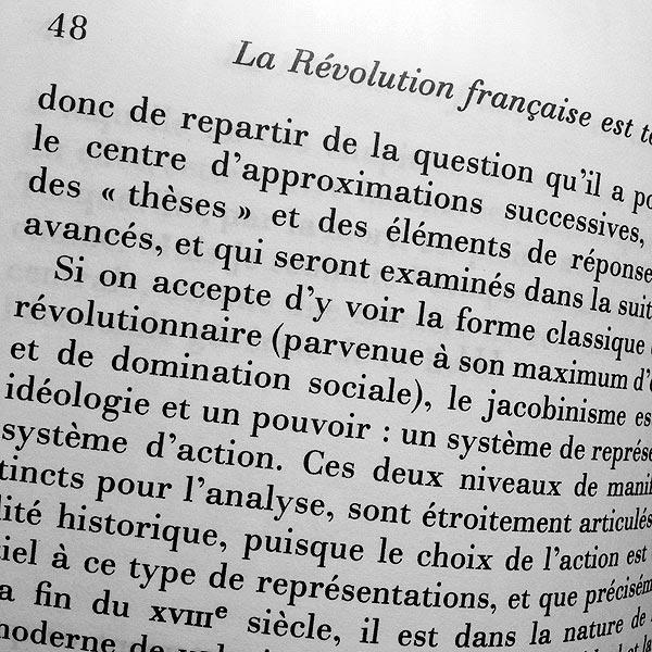 penser la révolution française || françois furet