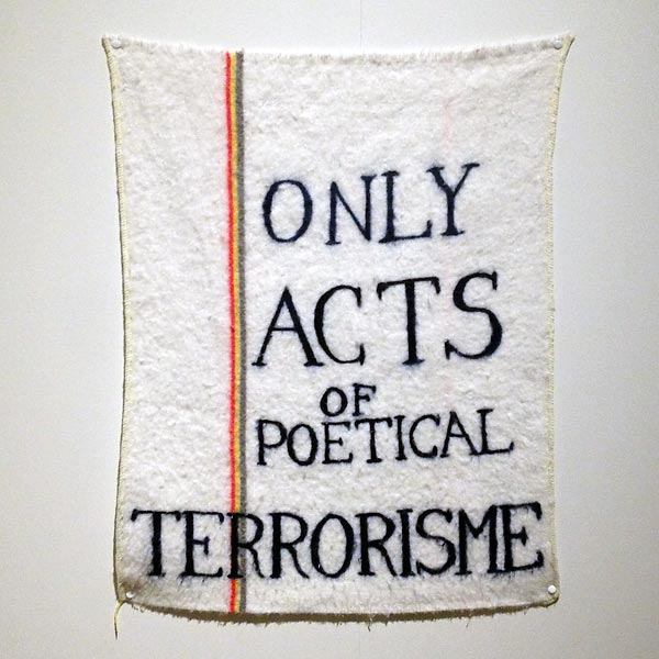 only acts of poetical terrorisme