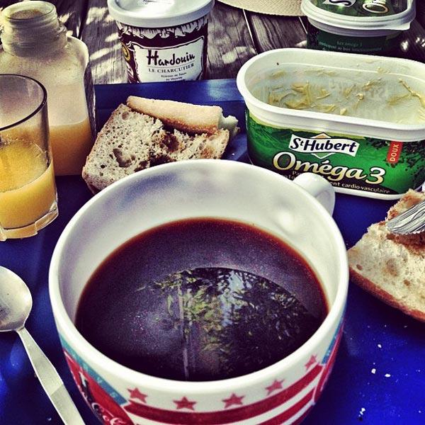 dernier petit déjeuner dans le jardin