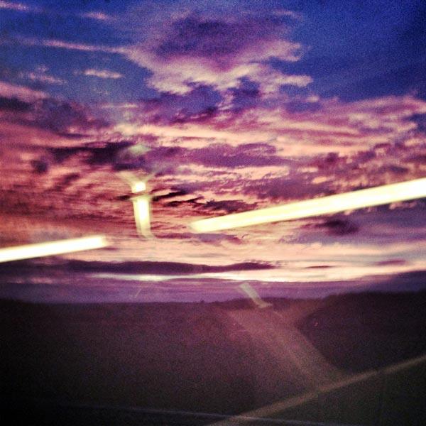 lever du soleil dans le tgv est