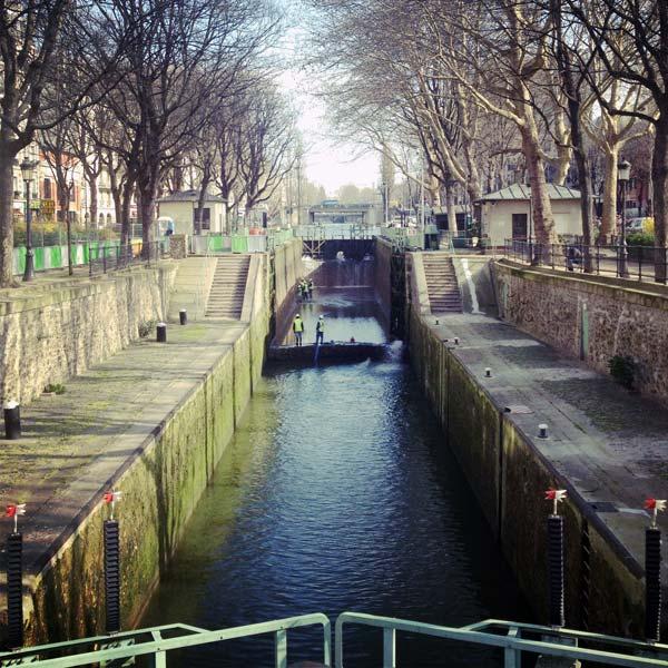 travaux sur le canal saint-martin