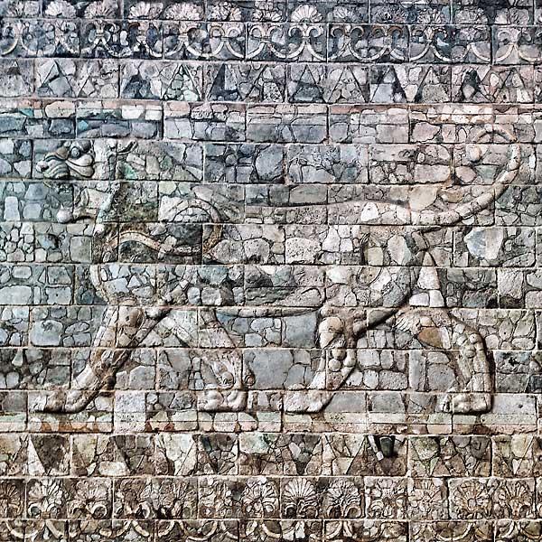 lion de la Frise des lions, de la première cours du palais de Darius Ier à Suse